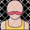 Mustache Bald Man Icon