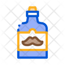 Bottle Label Mustache Icon