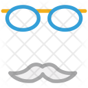 Mustache With Glasses Icon
