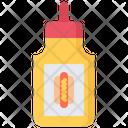 Mustard Hot Dog Icon