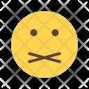 Mute Emoji Face Icon