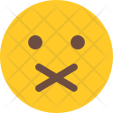 Closed Mouth Emoji Icon