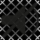 Mute Volume Speaker Icon