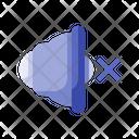 Flat Mute Silent Icon