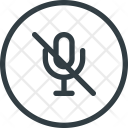 Mute Microphone Video Icon