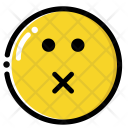 Mute Face Icon