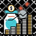 Mutual Fund Growth Cash Icon