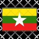 Myanmar Flag Nation Icon