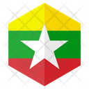 Myanmar Flag Country Icon