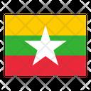 Myanmar Flag Flags Icon