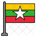Myanmar Country Flag Flag Icon
