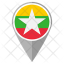 Myanmar Country Location Location Icon