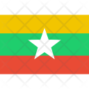 Myanmar Flag World Icon