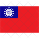 Flag Country Myanmar Burma Icon