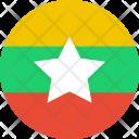 Myanmar Burma Flag Icon
