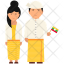Myanmar Outfit Myanmar Clothing Myanmar Dress Icon