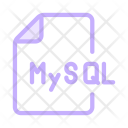 Mysql Coding Files Icon