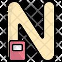 N Alphabet Education Icon
