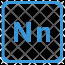 N Latin Letter Icon