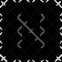N Letter Alphabet Rudiment Icon