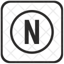 Letter N Function Icon
