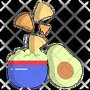 Nachos With Avocado Dip Nachos Avocado Dip Icon
