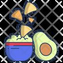 Nachos With Avocado Dip Icon