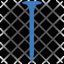 Nail Construction Metal Icon