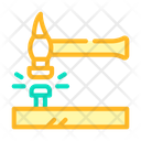 Nail Hammering Color Icon