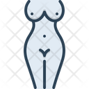 Naked Nude Unclothed Icon