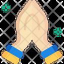 Handm Namaste Hand Gesture Icon