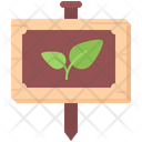 Nameplate Sprout Agriculture Icon