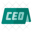 Ceo Name Plate Boss Icon