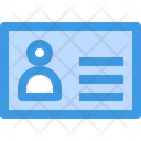 Name Tag Id Identification Card Icon