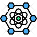 Nanotechnology Atomic Hexagon Icon