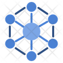 Nanotechnology Web Connection Icon