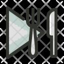 Napkin Knife Fork Icon