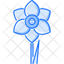 Narcissus Flower Green Icon