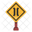 Narrow Bridge Road Post Traffic Board Icon