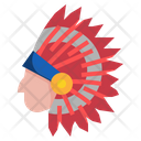 Native American Indian Hat Cultures Icon