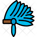Native Head Dress Clothes Dinner Icon
