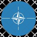 Nato Flag Circle Icon