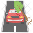Road Destruction Road Accident Earthquake Icon
