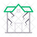 House Disaster Earthquake Icon