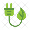 Natural Electricity Green Energy Environmental Fuel Icon