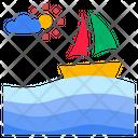 Nature Scenery Sea Icon