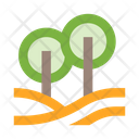 Nature Trees Hills Icon