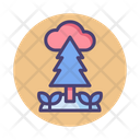 Nature Element Forest Cloud Icon