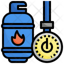 Nature Gas Energy Drilling Rig Icon