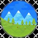 Nature Landscape Scenic View Hill Station Icon